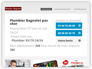 Plombier Bagnolet