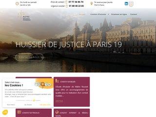 Huissier de justice à Paris pas cher