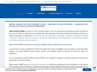 Avocats droit immobilier à Paris 8 Cabinet Cerda