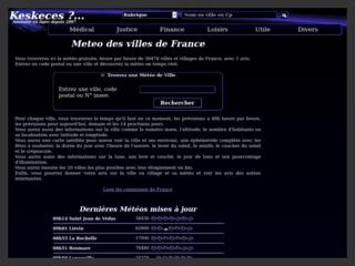 Connaître la météo dans les villes de France