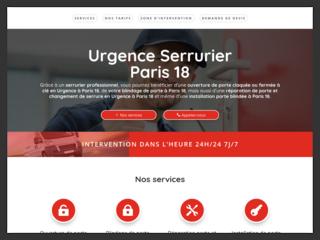 Urgence serrurier Paris 18