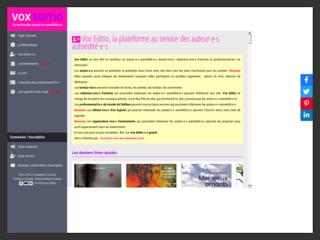Vox Editio - Au service des auteur·e·s autoédité·e·s