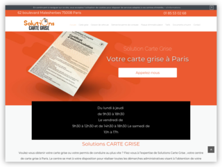 Plaque d'immatriculation à Paris