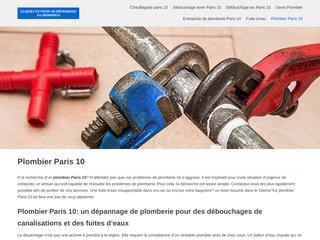 Réparation sanitaire dans le 10eme arrondissement