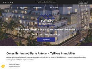 Investissements immobiliers à Antony, Tsilikas Immobilier