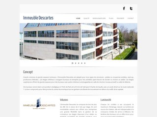 Immeuble Descartes Website