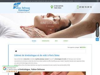 Cabinet de kinésiologue Fabien Defresne à Paris 5ème