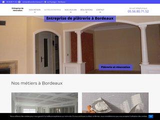 Entreprise de plâtrerie à Bordeaux