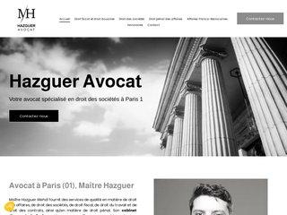 Avocat en droit douanier à Paris, Maître Hazguer Avocat