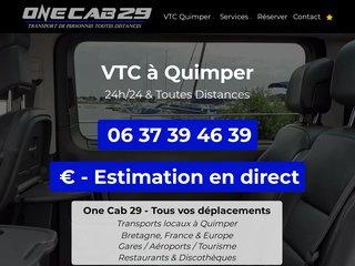 One Cab 29 - Compagnie VTC à Quimper