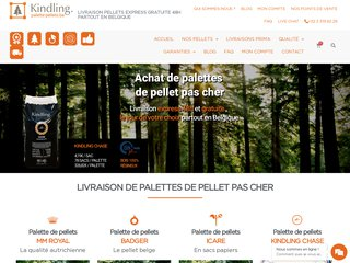 Livraison de palette de pellet pour poêle à pellet en Belgique
