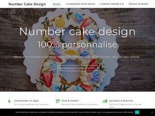 Number cake et letter cake pour un anniversaire