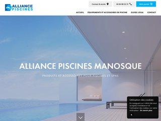 Alliance Piscines : vente matériels et accessoires piscine et spa