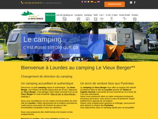 Camping Du Vieux Berger, votre camping à Lourdes