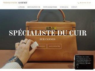 Maroquinerie Lucenet à Cannes : restauration de cuir