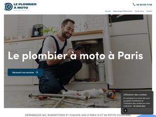 Le Plombier à Moto à Paris 15 et en banlieue parisienne