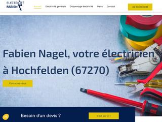 électricien à Hochfelden (67),  Fabien Nagel