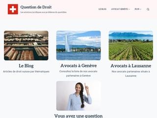 Blog juridique de droit Suisse : Question-de-droit