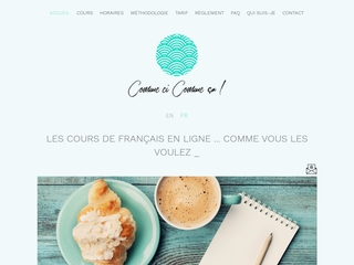 Cours de français écrit et oral en ligne