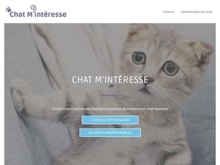 Chat Minteresse : alimentation et santé du chat