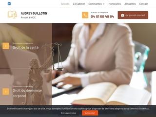 Maître Audrey GUILLOTIN, avocate en droit médical à Nice