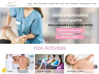 Ostéopathe pour sportif à La Farlède - Julie Desmoulins