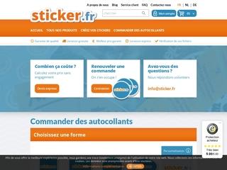 Sticker : impression d'autocollants personnalisés pas chers