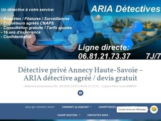 Détective privé Annecy Haute-Savoie – ARIA détective agréé