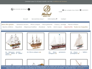 Mistral Maquettes-Maquettes construites de bateaux d'exposition