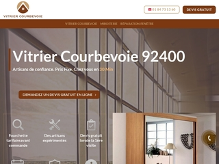 Une intervention rapide avec vitrier Courbevoie