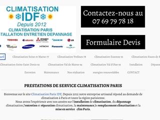 Climatisatisation Paris IDF