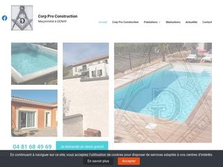 Construction de piscine en béton armé dans les environs de Lyon