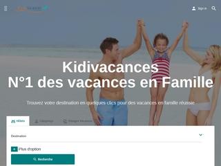 Kidivacances, n°1 des vacances en famille