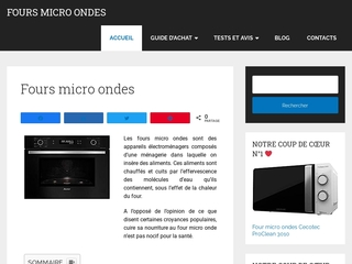 Les avantages des fours micro-ondes