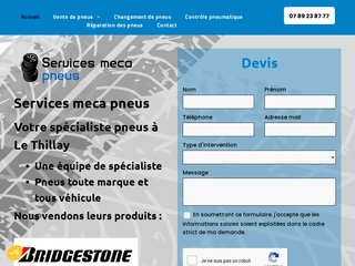Garage automobile à Le Thillay, Services meca pneus