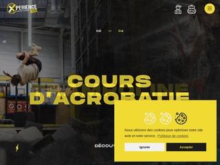 Le site internet du parc à trampolines Xperience Park à Mulhouse