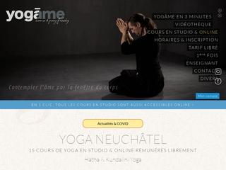 Yogâme, apprentissage du yoga à Neuchâtel