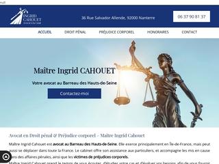 Ingrid CAHOUET: avocat au Barreau des Hauts-de-Seine