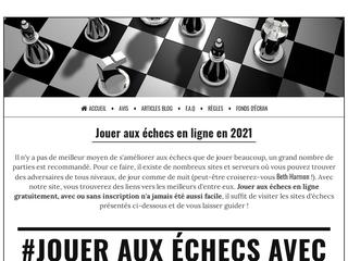 Jouer aux échecs en ligne