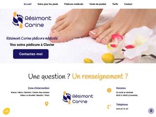 Services de la pédicure à Clavier du cabinet Résimont Corine