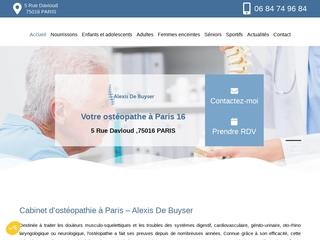 Cabinet d'ostéopathie d'Alexis De Buyser à Paris