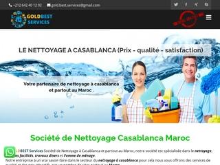 GOLDBEST SERVICES : Société de nettoyage Casablanca Maroc