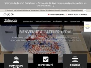 L'Atelier Afdal vous propose son expertise dans l'impression textile!