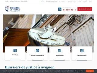 huissiers Fernandes-Colette implantés dans la ville d'Avignon