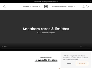 Vente de Sneakers limitées en ligne