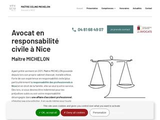 Maître MICHELON : Avocat en responsabilité civile à Nice