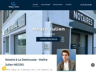Notaire à La Destrousse, Maître Julien NEGRO