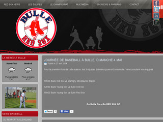 Baseball: club Bulle Red Sox en Suisse