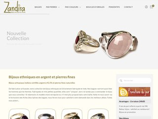 Acheter des bijoux en argent chez Zandira