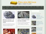Tous les prix des métaux à la bourse
